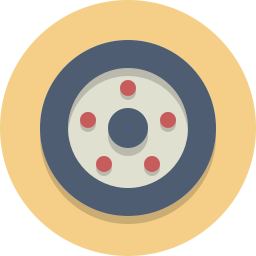 car wheel, tire, wheel icon