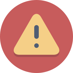 alert, attention, caution, danger, error, exclamation, warning icon