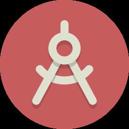 circle compass, compass icon