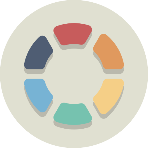 color wheel, palette, swatch icon