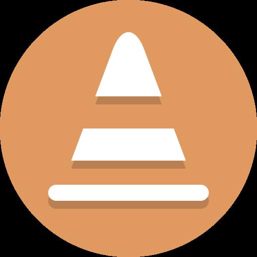 cone, construction icon