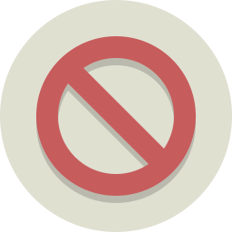 block, denied, no, no symbol, stop, universal no icon