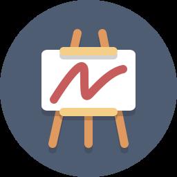 art, chart, easel, presentation icon