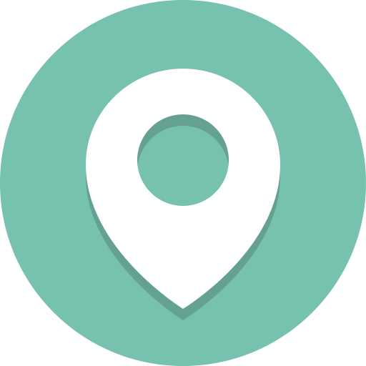 location, navigation, pin icon