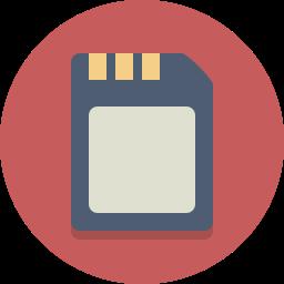 memory card, sim card icon