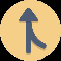 arrow, merge, on ramp icon