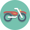 motorcycle, scooter, motorscooter, motorbike icon