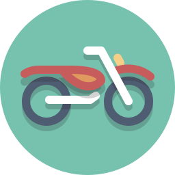 motorbike, motorcycle, motorscooter, scooter icon