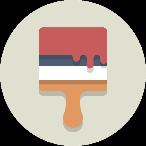 brush, paint, paint brush icon