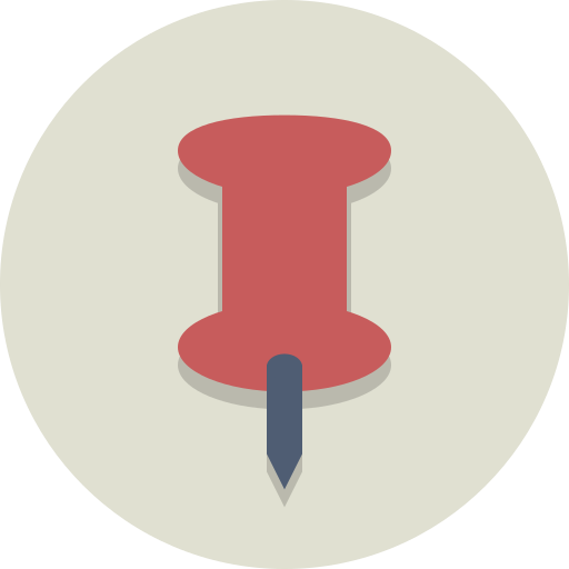pin, tag icon