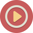 play, movie, video icon