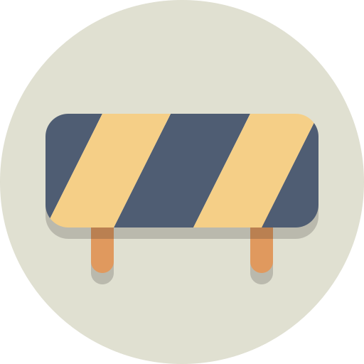 barrier, construction, roadblock icon