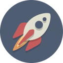rocket, spacecraft, spaceship icon
