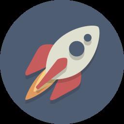 rocket, spacecraft, spaceship icon