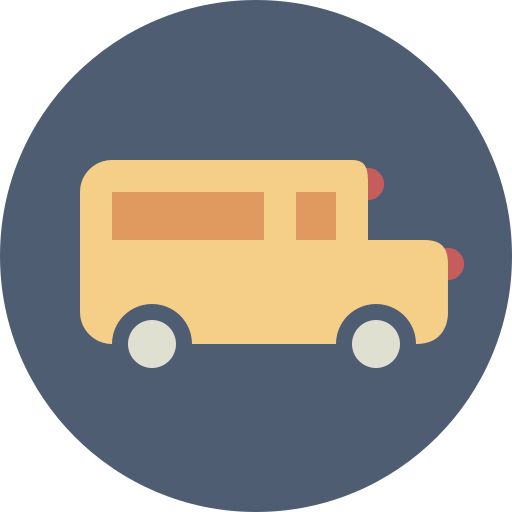 bus, school bus, transportation icon