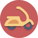 motorscooter, scooter, transportation, vespa icon