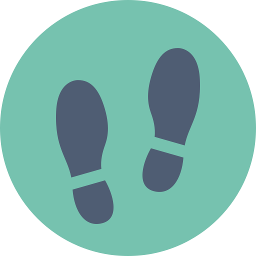 foot print, shoe print icon