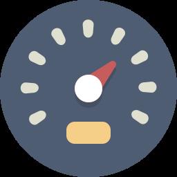 gauge, speedometer icon
