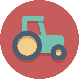 farming, tractor, vehicle icon