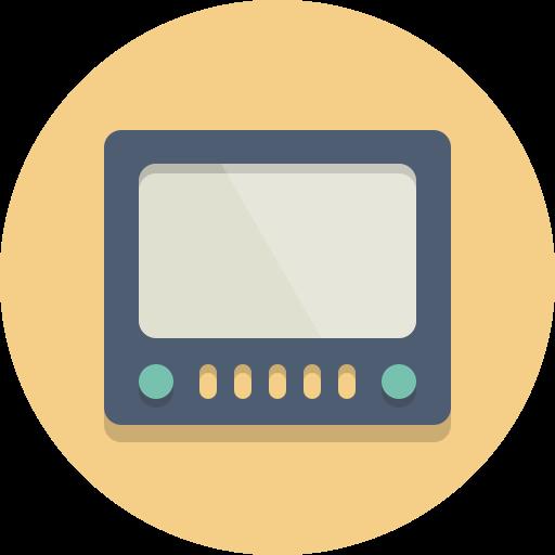display, monitor, screen, tv icon