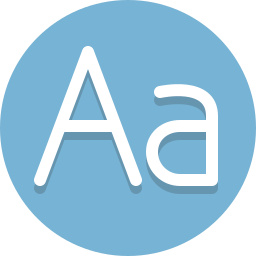 alpha, letters, typography icon