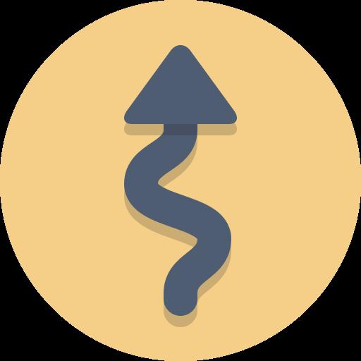 arrow, curve, windy icon