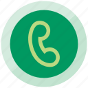 call, calling, chat, hallo, phone, sound, telephone icon