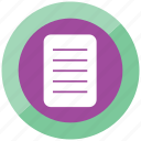blank page, book, document, letter, note, page, reminder icon