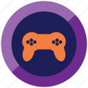 game, happy, play, playstation, shoot, stick icon
