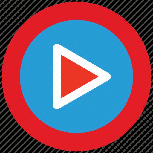 click, listen, play, start, stream, video, watch icon
