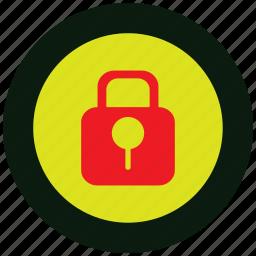 code, danger, lock, log, security, warning icon