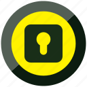 alert, danger, keeper, lock, log, security icon