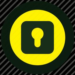alert, danger, keeper, lock, log, security icon