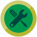 format, key, option, screwdriver, setting icon
