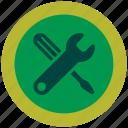 format, key, option, screwdriver, setting icon