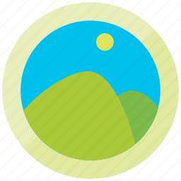 gallery, lanscape, mountain, photo, picture, view icon