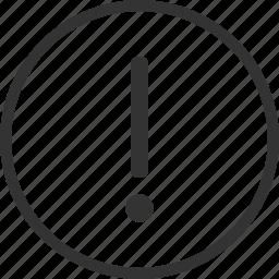 alert, circle, danger, warning icon