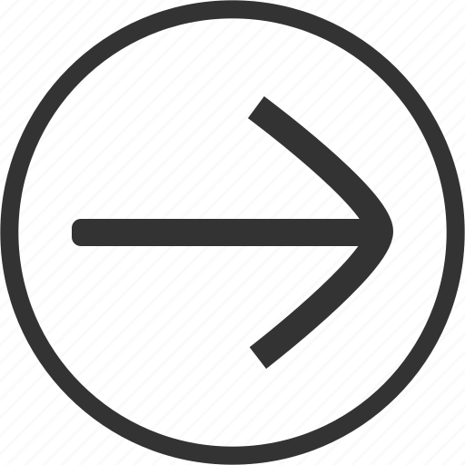 Arrow, right, direction, circle icon - Download on Iconfinder