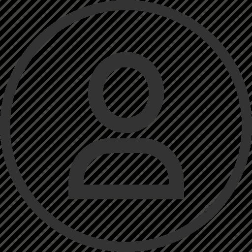 account, avatar, circle, human, male, profile, user icon