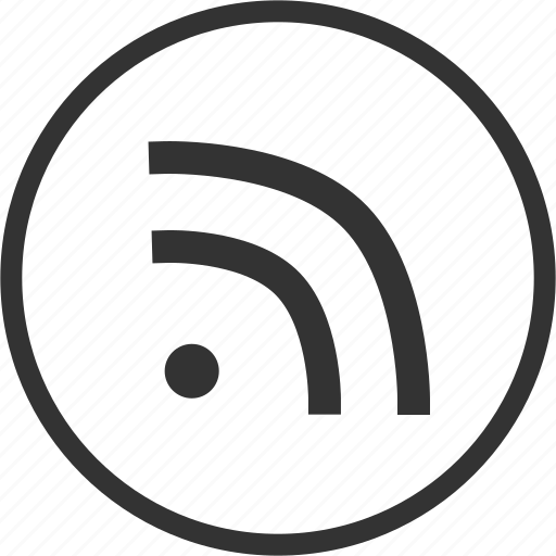 blog, circle, feed, news, rss icon