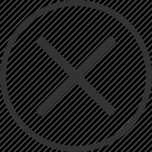 cancel, circle, close, cross, delete, remove icon