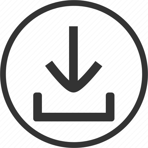 Download, arrow, down, save, circle, guardar icon - Download on Iconfinder