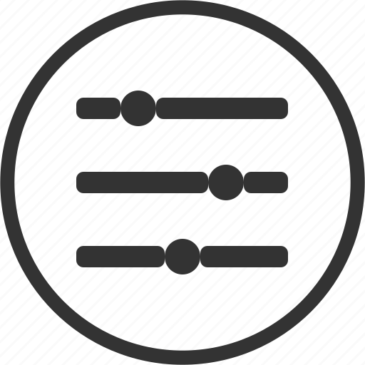 Filter, filtering, order, sort, circle icon - Download on Iconfinder