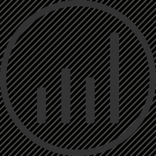 analytics, circle, graph, graphic, statistics icon