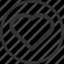 heart, favourite, like, love, circle