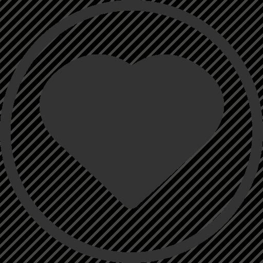 circle, favourite, heart, like, love icon
