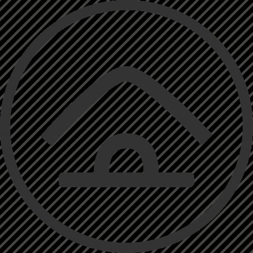 circle, home, house, main icon