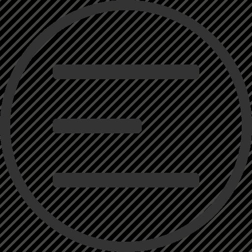 circle, document, list, text icon