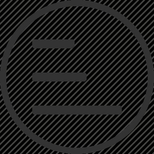 circle, list, text icon