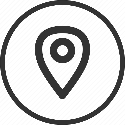 circle, gps, location, map, navigation icon